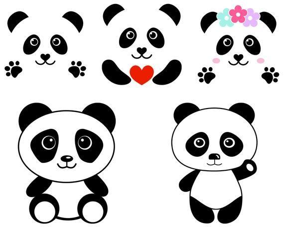 Panda Svg Panda Face Svg File Cute Panda Head Clipart Etsy In 2021 Cute Panda Clip Art Panda Head
