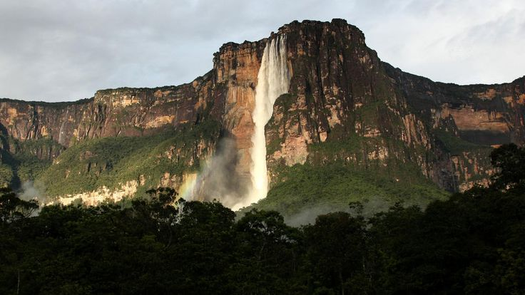 Angel Falls, Venezuela Angel Falls, the world's highest waterfall plunges 3,212 feet from the top of Auyan-Tepui (Devil's Mountain) to the Churun River in eastern Venezuela. The waterfall, located in Canaima National Park, is named after James Angel, an American aviator who flew over the falls in 1933
