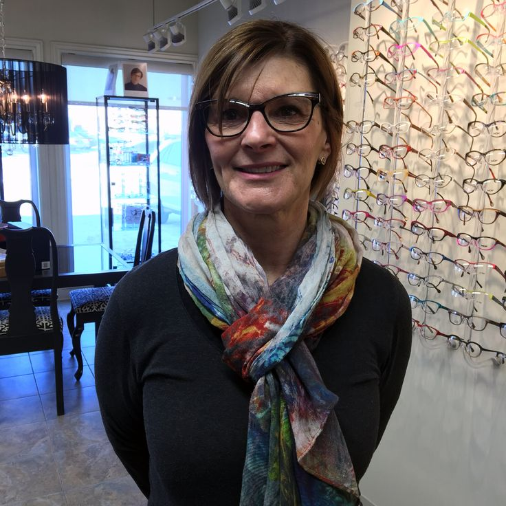 Debbie is wearing her new Volte Face frames and they look great. When she put them on she couldn't believe how good the quality of the lens was! They look great on you Debbie. #Jfrey #eyeWEAR #style #YQR #VolteFace #Viva