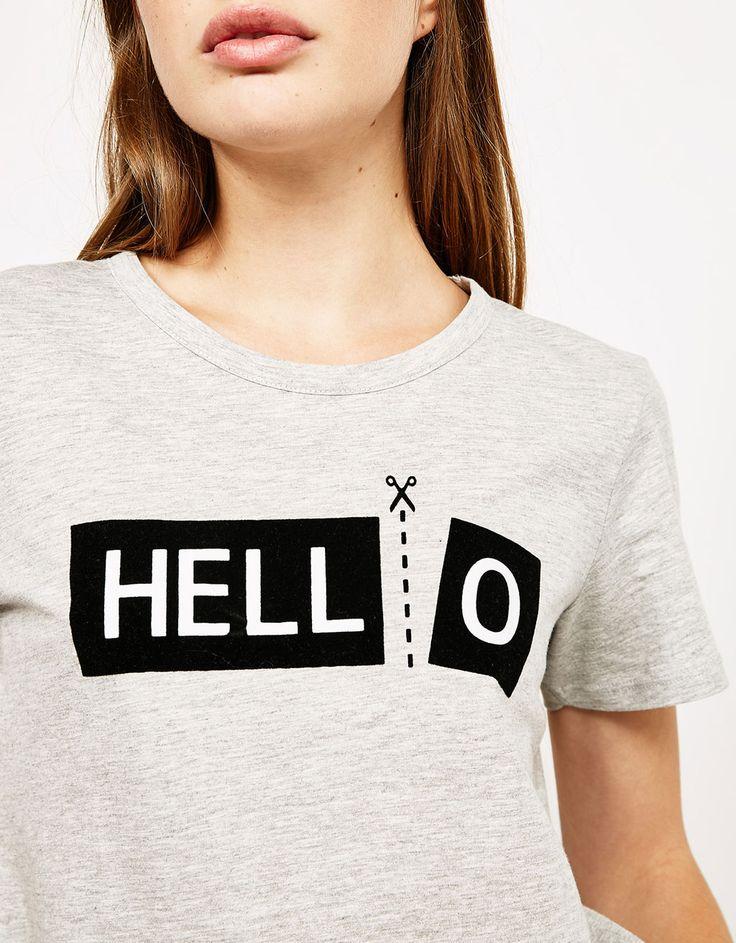 Camiseta estampada HELL-O - Camisetas - Bershka España