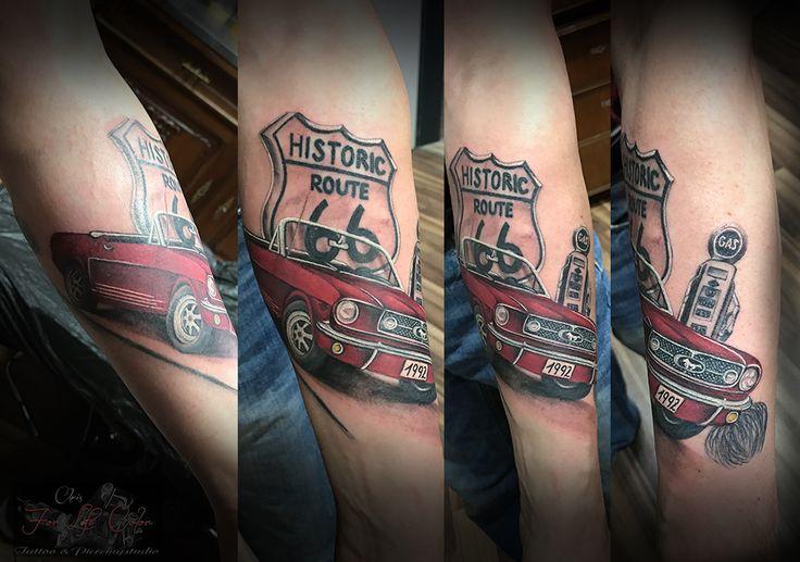 in progress #forlifecolor #inked #tattoochris #christattoo #tattooraubling #ink #instatattoo #nofilter #instagood #tats #mustang #route66 #amerikatraum #amerika #mustangtattoo #colortattoo #inprogress #tattoo #inkstagram #tattoodesign #tattooartist #tattoo #tattoos #tattoostyle #tattooidea #tattoolife #tattoolovers #tattooart #tattooed