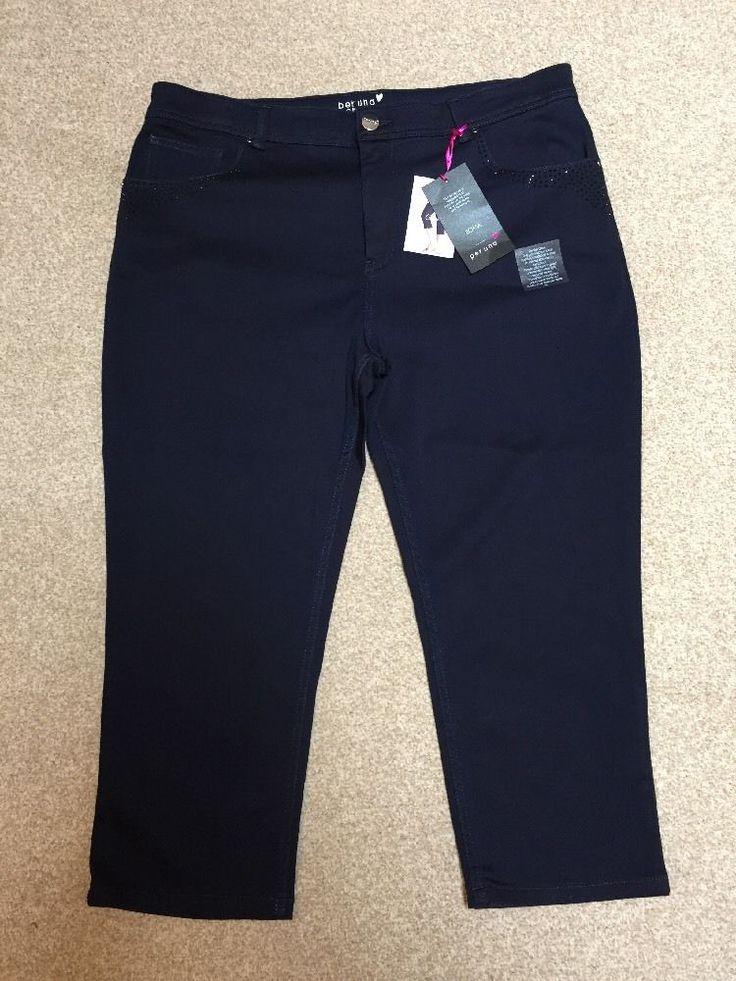M&S PER UNA ROMA Collection Ladies Denim Stretch trousers UK20, EU48 BNWT…