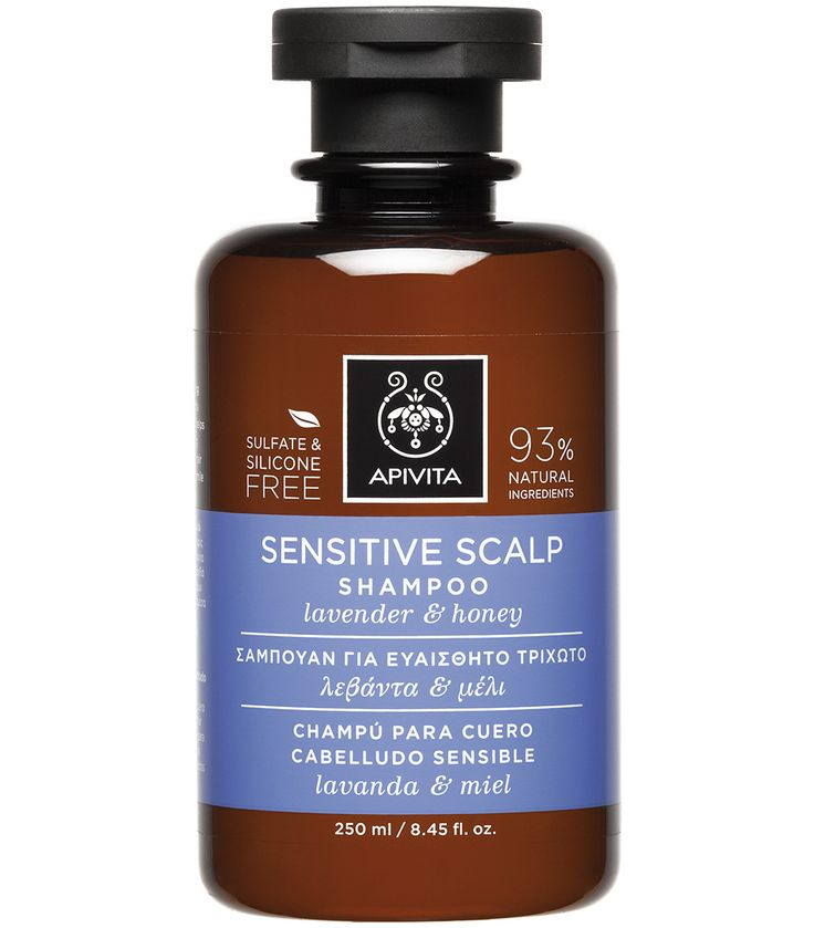 Apivita Sensitive Scalp Σαμπουάν για Ευαίσθητο Τριχωτό με Λεβάντα & Μέλι 250ml. Μάθετε περισσότερα ΕΔΩ: https://www.pharm24.gr/index.php?main_page=product_info&products_id=13781