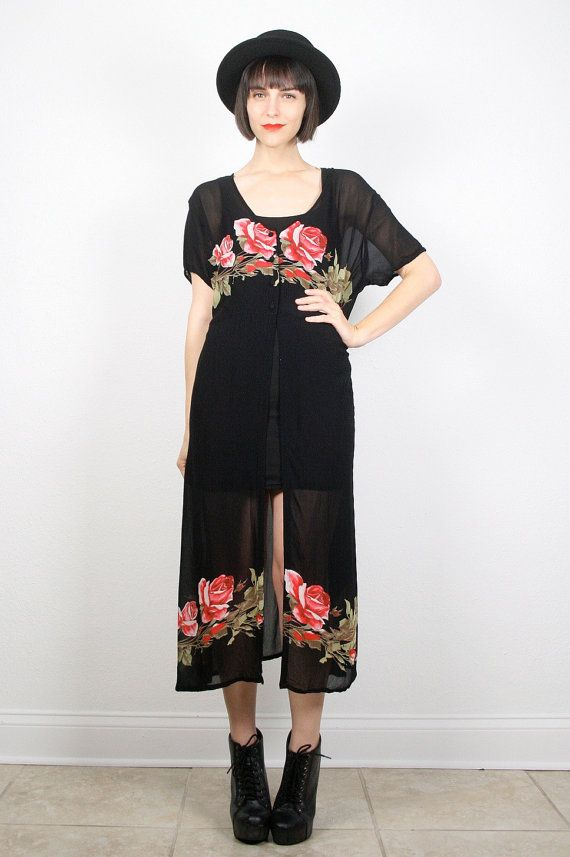 Vintage 90s Dress 1990s Dress Grunge Dress by ShopTwitchVintage