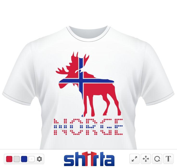 Moose, Elche, Norge, Noreg, Norway, Norwegen, Flags, Flaggen, Länder, countries, eushirt.com