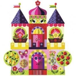Chocovenyl Muursticker princess & castle, kasteel Medium