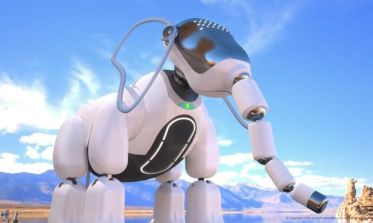 Elbo Elephant Robot Concept Art. ::           Artist & Modeler: Cleo.            HDR Environment: Christian Bloch - www.blochi.com.