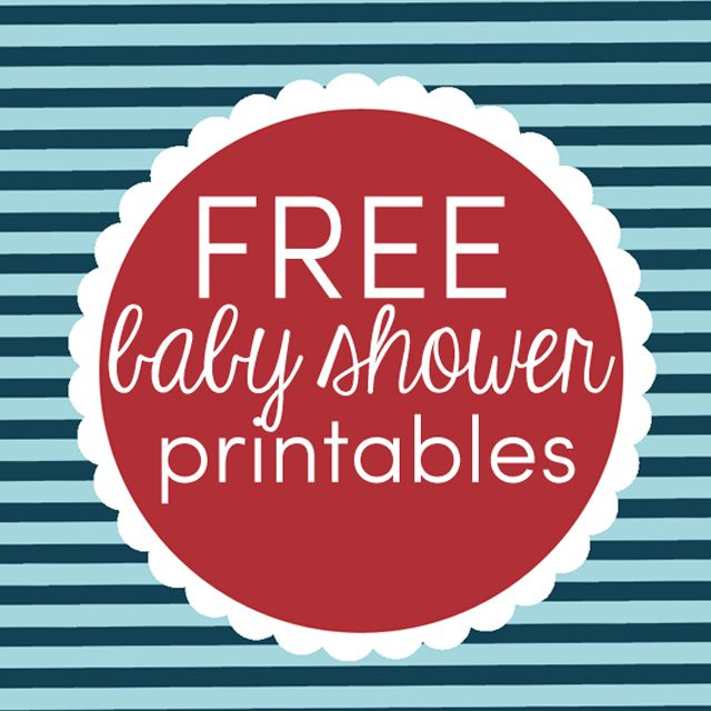 LOTS of free printable for a Nautical Baby Shower theme: food labels, party circles, and a fun game! #babyshower #printables