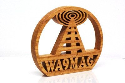 I think this is really cool! Ham Radio Call Sign Wood Callsign by KerflineCrafts on Etsy, $31.00