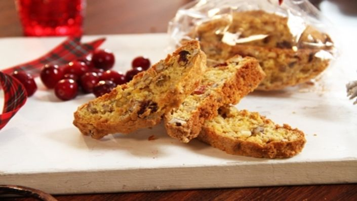 How to make the perfect John Whaite's Cranberry, Chocolate and Pecan Biscotti  by John Whaite on Food Network UK.