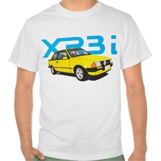 Ford Escort MK3 XR3i yellow DIY  #ford #escort #fordescort #mk3 #xr3i #tshirt #thirts #automobile #car #uk #80s