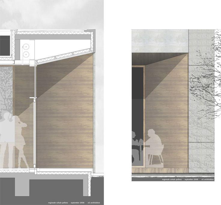 Extension Regional School (facade in section and elevation) // by o5 architekten bda - raab Hafke long