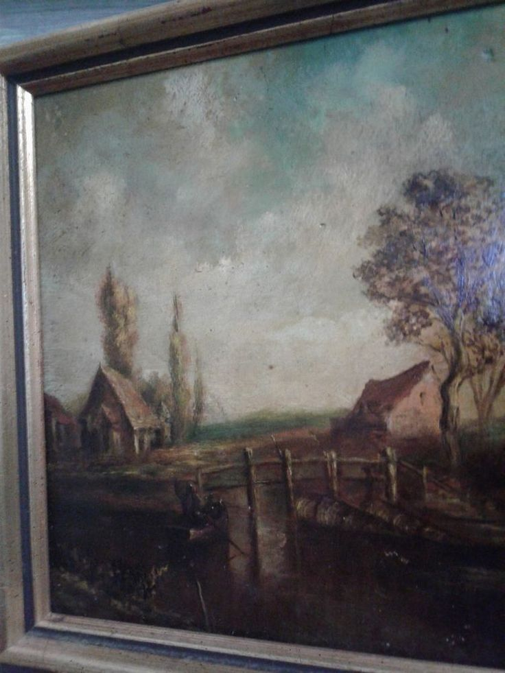 Landscape Antique Old Master Oil Painting / dutch, german #Realism