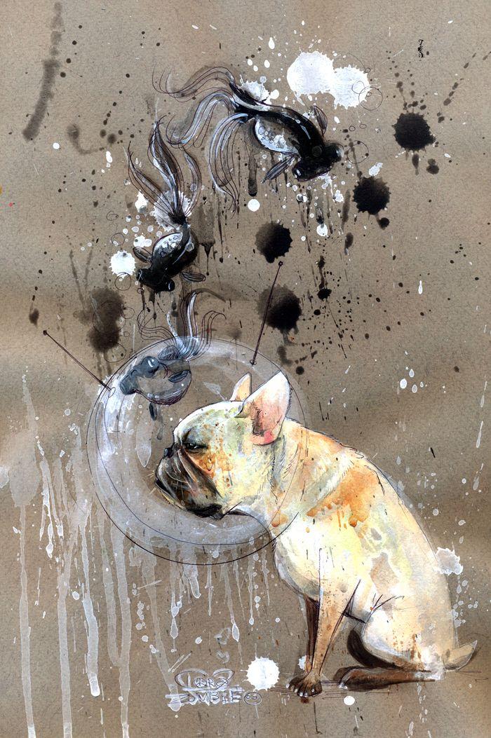 """Black GoldFish"" by Lora Zombie"