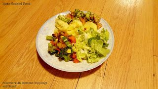Polenta with Mexican toppings