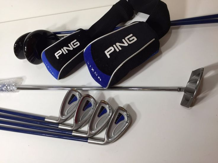 Ping Moxie Junior Blue Club Set, Right-Handed Graphite Golf Clubs° #Ping