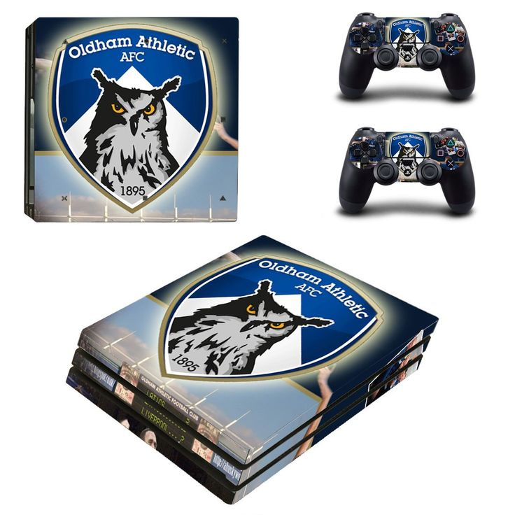 Oldham athletic AFC Ps4 pro edition skin decal for console and controllers