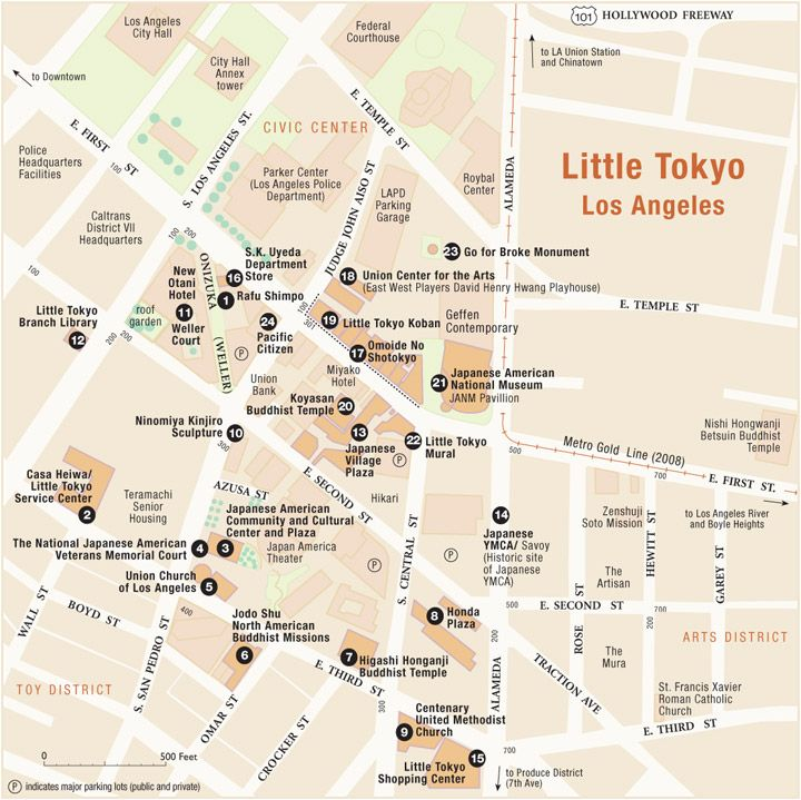 Little Tokyo, Los Angeles, CA  Easy to get to off the Metro gold line. Plenty of bars, restaurants, shops, markets and museums.   Try a day trip at one of the museums (Moca or Japanese American National Museum). Lunch at Marugame Monzu (udon noodles, see my pin). For dessert try fro yo at yogurtland or mochi ice cream in the village plaza. Night cap it off with drinks at the Far Bar. Your day will be epic...     Check out some of my other pins for more details!