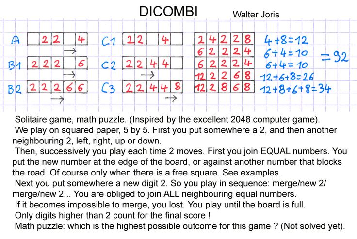 #math game, pen and paper game