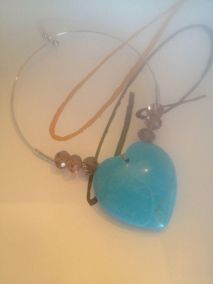 Handmade stone necklace surround yourself pretty