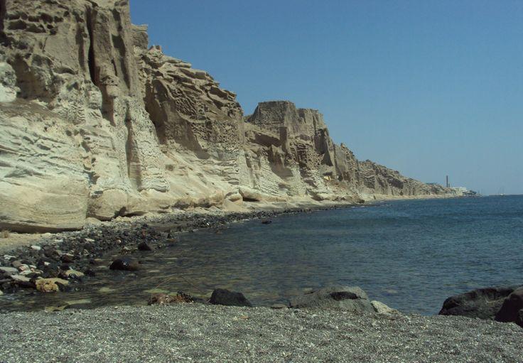 Looking the beautifull landscape of Vlihada beach from Eros beach...by Nostos Studios  #Vlihada #Eros #Santorini #NostosStudios