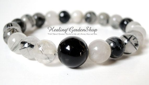 use code KW10OFF for 10% off--Psychic Protection / Energy Bracelet / Black Tourmaline