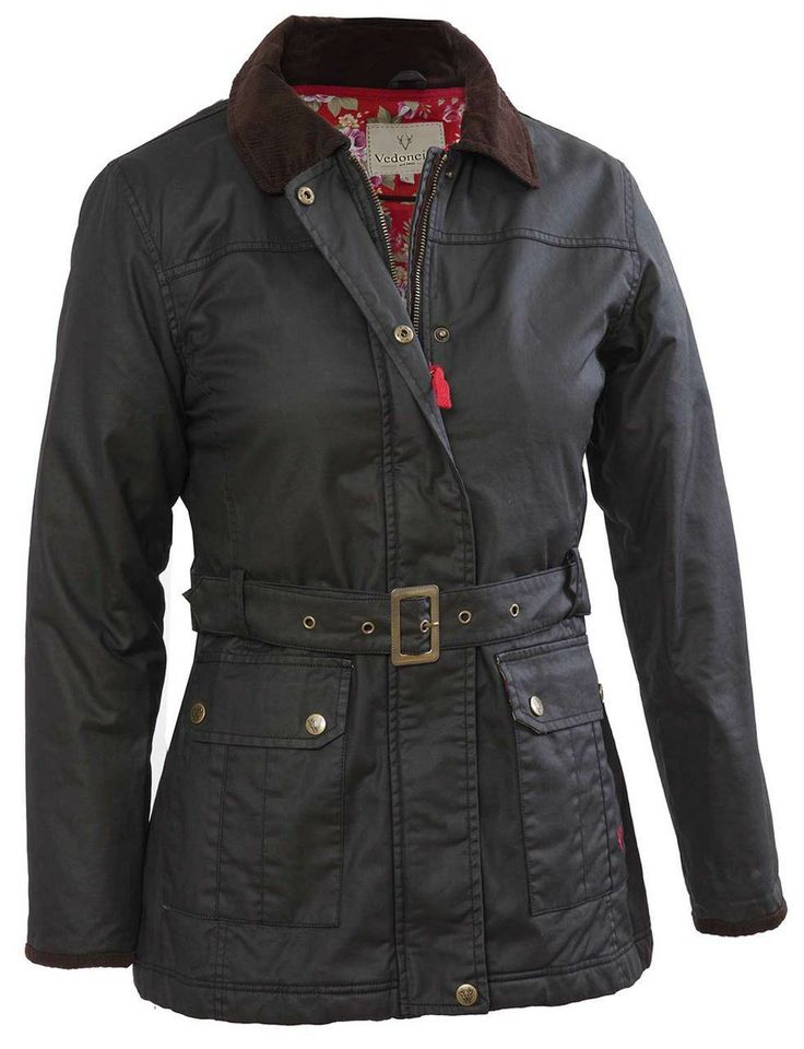 Waxed cotton jacket women