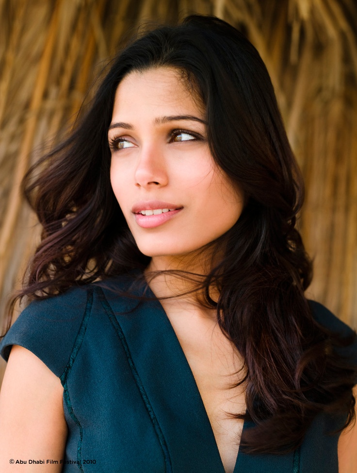 Frida Pinto is in the Preventative stage of skincare. Lots of sunscreen and overall aim of balancing the skin.