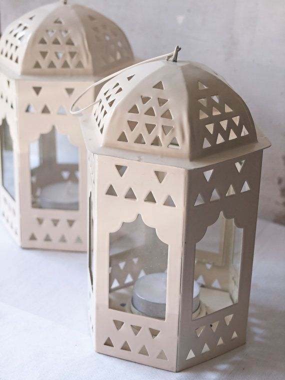 Cream Lanterns Small Set of 2  Wedding by WeddingBoxWhatNots