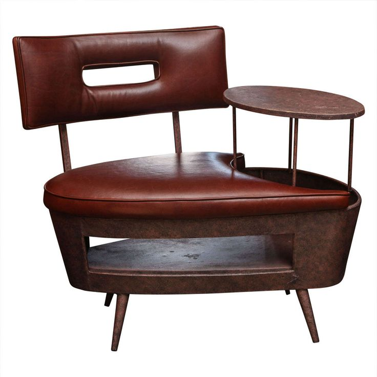 Telephone Chair with Table Combo | From a unique collection of antique and modern office chairs and desk chairs at http://www.1stdibs.com/furniture/seating/office-chairs-desk-chairs/