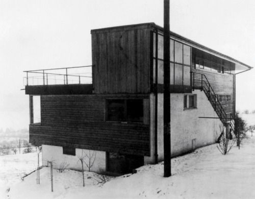 House Schlehstud (1933) built for himself in Meilen, Switzerland, by Hans Fischli