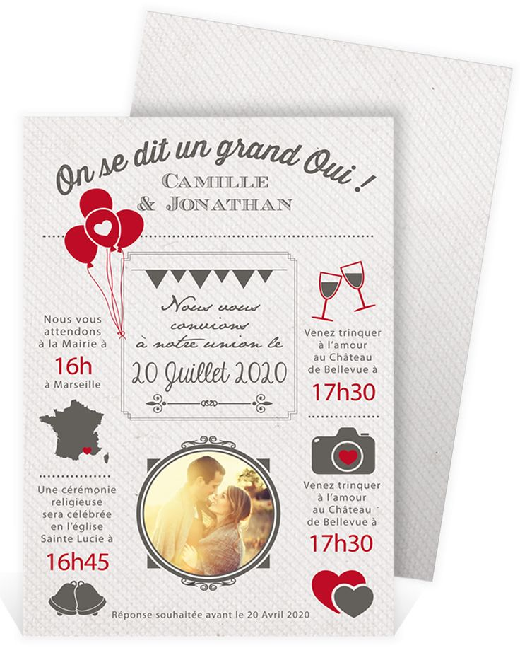 51 best faire part mariage vintage images on pinterest. Black Bedroom Furniture Sets. Home Design Ideas