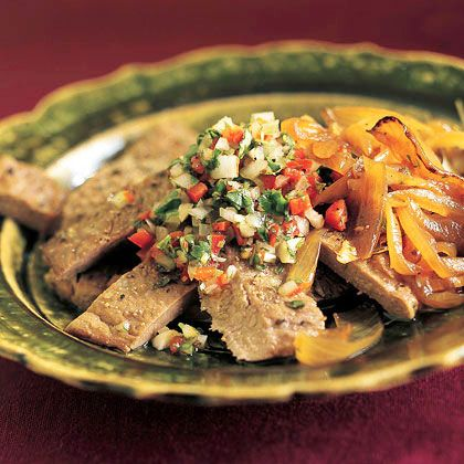 Churrasco with Pebre (Grilled Beef Tenderloin with Chilean Cilantro Sauce)