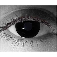 Black Out contact lens.. I have these for Saturday night !