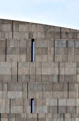 Detail of Basalt lava Stone Facade - Museum of Modern Art - Vienna