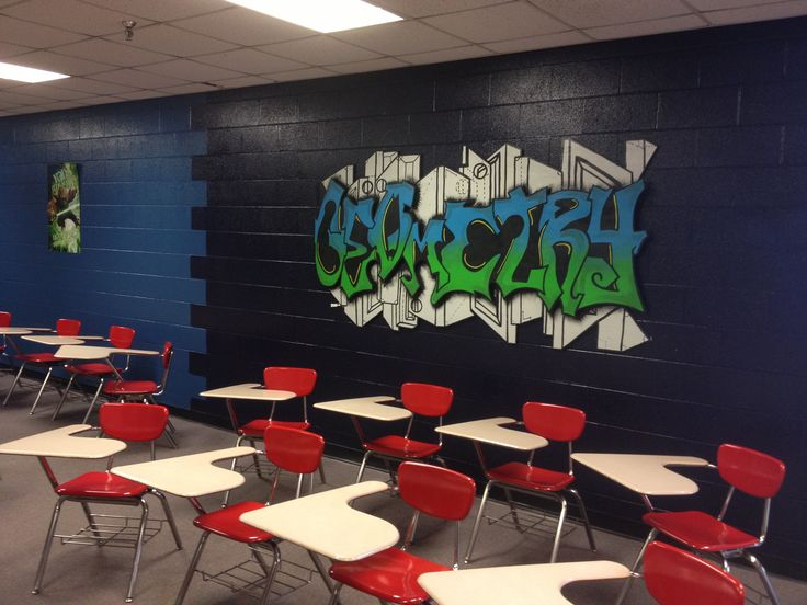 How Classroom Decor Affects Students ~ Geometry high school classroom bulletin board ideas