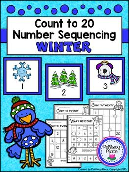 Counting to 20 Number Sequencing Activity: Winter***Flash Freebie - Available Free through November 1.***This  Count  to 20 Number Sequencing Activity Pack is a collection of 3  sets of printable number cards (1-20), 3  different recording  sheets,  and 1  cut and glue activity page.