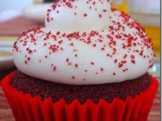 Cupcake Red Velvet sem corante!