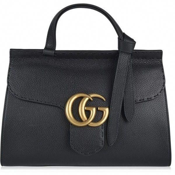 72f1e0a36762 Gucci Marmont Gg Tote found on Polyvore featuring bags, handbags, tote  bags, black