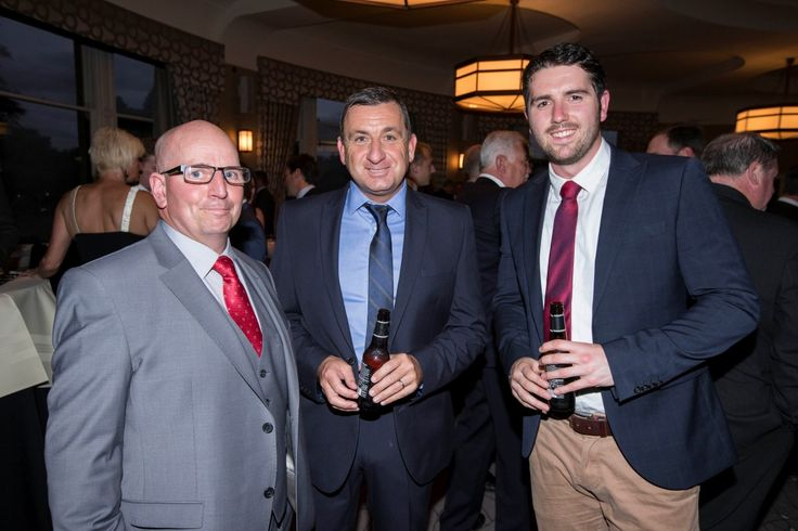 Brian Pettigrew (middle, of Robertson Partnership Homes) and John Hodge (right, shortlisted for Young Person of the Year) chats to one of our category sponsors.