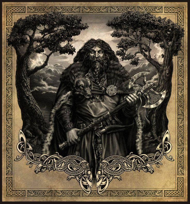 Perun - Perun is the Slavic god of thunder and the sky. He is one of the most powerful Slavic gods and member of Slavic trinity (Triglav) together with Svarog and Svetovid. He was worshipped by the Russians until their Christianization in 988 by St. Vladimir I, Grand Prince of Kiev. Idols of Perun depicted him as a large man with a silver head and golden mustaches.