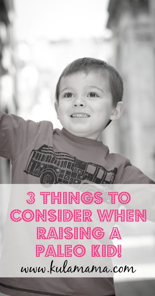 3 Things to Consider When Raising a Paleo Kid!  Great info for all parents from www.kulamama.com