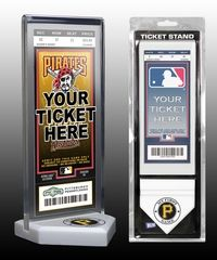 My First Pittsburgh Pirates Game Ticket Display Stand