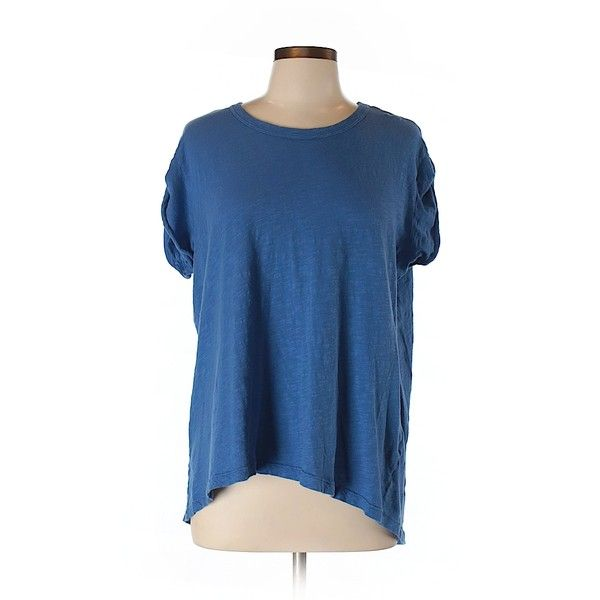 Pre-owned W by Wilt Short Sleeve T Shirt Size 8: Blue Women's Tops ($20) ❤ liked on Polyvore featuring tops, t-shirts, blue, blue short sleeve top, blue tee, short sleeve tops, short sleeve tee and short sleeve t shirts
