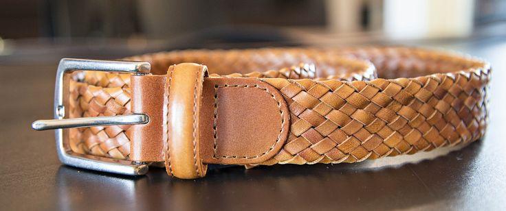 Ceinture pour homme Ralph Lauren tressée marron clair #belt #ceinture #modemasculine #men #man #menwithstyle #homme #ralphlauren #ralphlaurenbelt