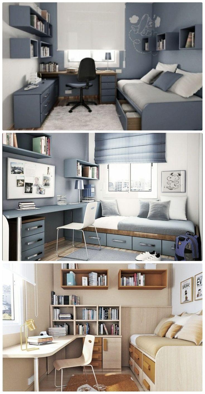 Büro mit einem Platz zum Liegen oder Sitzen zum Lesen