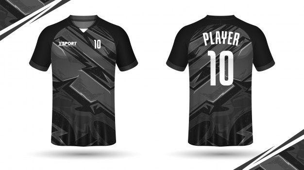 plain black football jersey