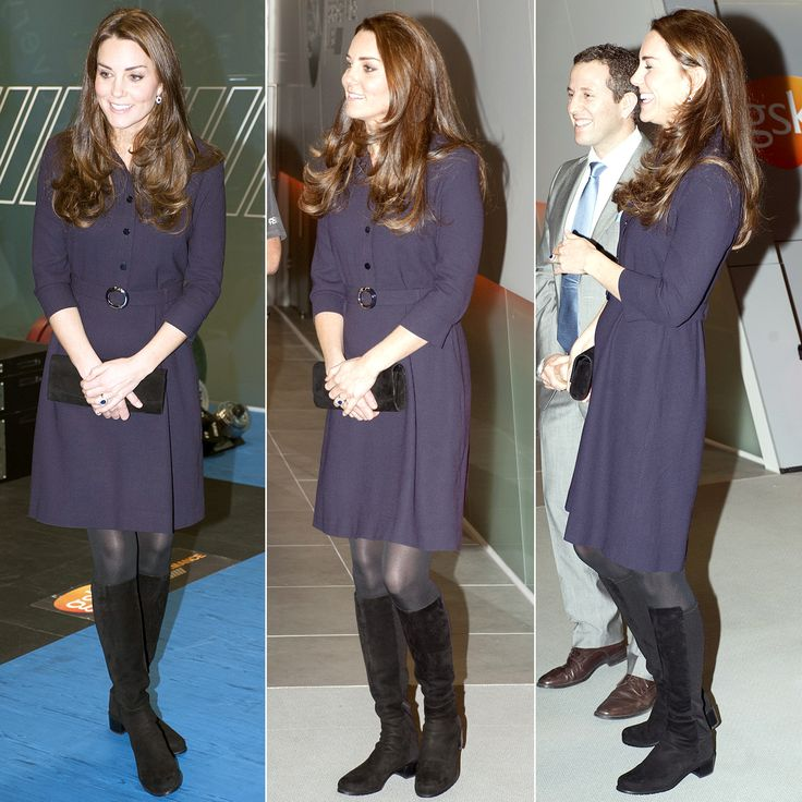 Kate Middleton attended a SportsAid Athlete Workshop in London on Wednesday, Nov. 12, wearing an eggplant shirtdress; see her latest luxe look here