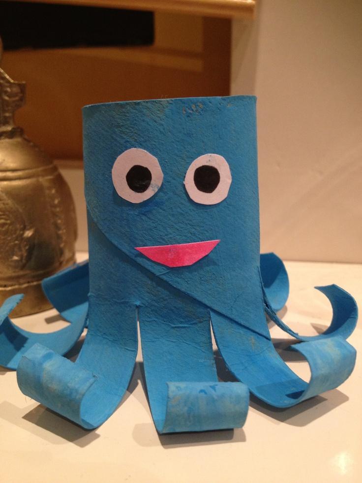 Octopus van wc-rol