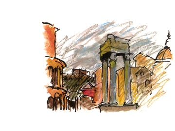 Temple of Apollo by Antoine Predock: Architecture Sketch, Drawings Master, Achitectur Drawings, Antoin Predock